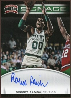 2012/13 Panini Threads Signage #37 Robert Parish Autograph