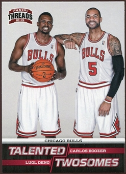 2012/13 Panini Threads Talented Twosomes #2 Luol Deng/Carlos Boozer