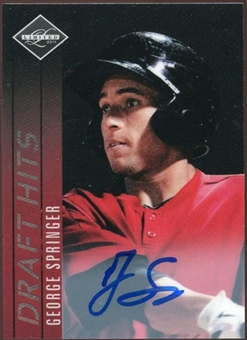 2011 Panini Limited Draft Hits Signatures #3 George Springer Autograph 43/229
