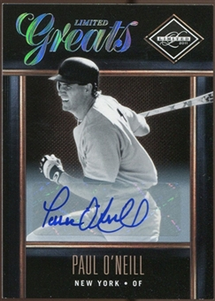 2011 Panini Limited Greats Signatures #7 Paul O'Neill Autograph 14/300