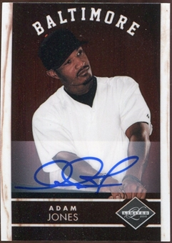 2011 Panini Limited Signatures #12 Adam Jones Autograph 178/399