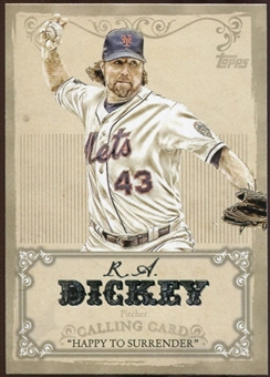 2013 Topps Calling Cards #CC9 R.A. Dickey