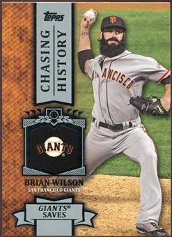 2013 Topps Chasing History #CH32 Brian Wilson