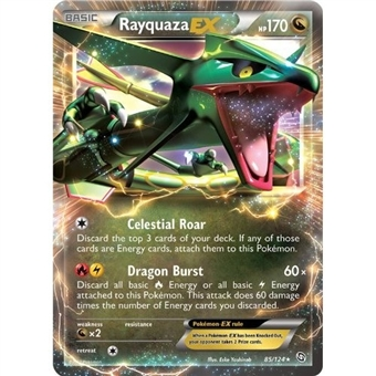 Pokemon Dragons Exalted Single Rayquaza ex 85/124 MODERATE PLAY (MP)