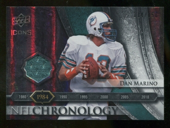 2008 Upper Deck Icons NFL Chronology Jersey Silver #CHR10 Dan Marino /150
