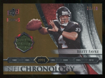 2008 Upper Deck Icons NFL Chronology Jersey Gold #CHR16 Brett Favre 20/50
