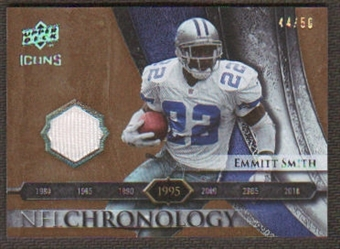2008 Upper Deck Icons NFL Chronology Jersey Gold #CHR19 Emmitt Smith /50