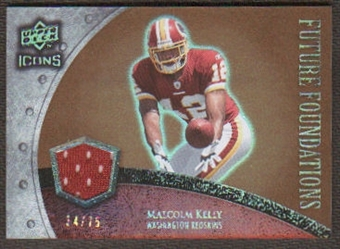 2008 Upper Deck Icons Future Foundations Jersey Gold #FF20 Malcolm Kelly /75