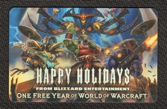 World of Warcraft Online One Year Prepaid Subscription Card - Scratch Off Code (Loot)