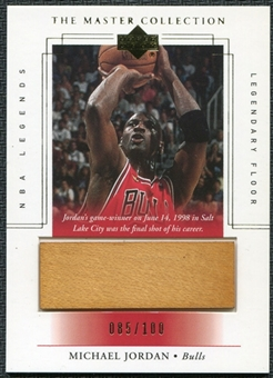 2000 Upper Deck Legends Master Collection Legendary Floor #F2 Michael Jordan 85/100