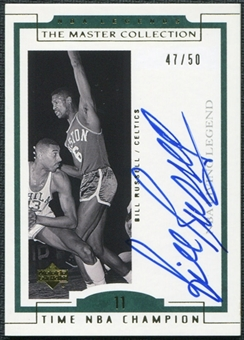 2000 Upper Deck Legends Master Collection Living Legends Autographs #BL4 Bill Russell /50