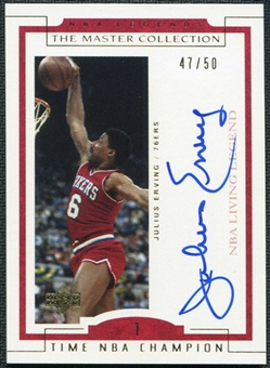 2000 Upper Deck Legends Master Collection Living Legends Autographs #JL4 Julius Erving 47/50