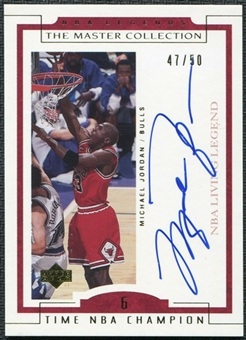 2000 UD Legends Master Collection Living Legends Auto #ML4 Michael Jordan 47/50 - DACW Live Razzes