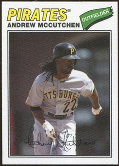 2012 Topps Archives Cloth Stickers #AM Andrew McCutchen