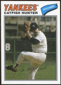 2012 Topps Archives Cloth Stickers #CH Catfish Hunter