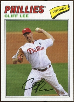 2012 Topps Archives Cloth Stickers #CL Cliff Lee