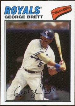 2012 Topps Archives Cloth Stickers #GB George Brett