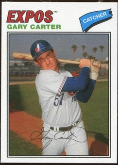 2012 Topps Archives Cloth Stickers #GC Gary Carter