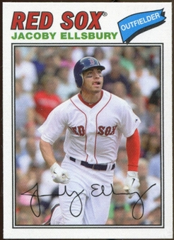 2012 Topps Archives Cloth Stickers #JE Jacoby Ellsbury