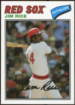 2012 Topps Archives Cloth Stickers #JR Jim Rice