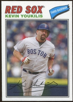 2012 Topps Archives Cloth Stickers #KY Kevin Youkilis