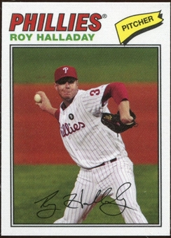 2012 Topps Archives Cloth Stickers #RH Roy Halladay