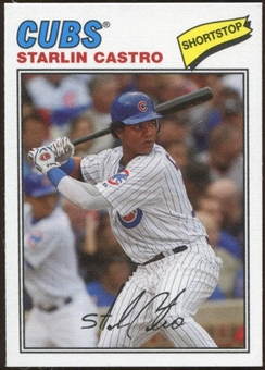 2012 Topps Archives Cloth Stickers #SCA Starlin Castro