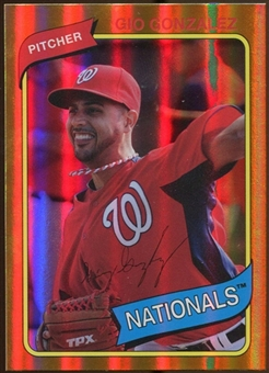 2012 Topps Archives Gold Foil #115 Gio Gonzalez
