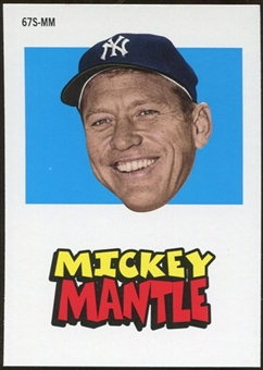2012 Topps Archives Stickers #MM Mickey Mantle