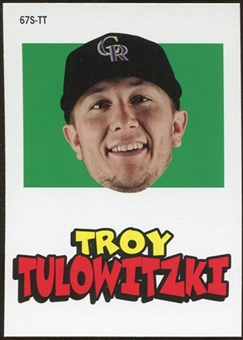 2012 Topps Archives Stickers #TT Troy Tulowitzki