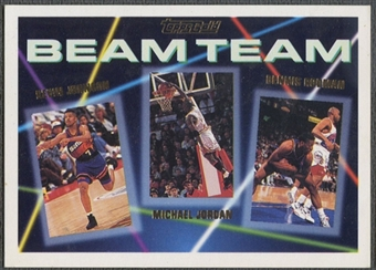 1992/93 Topps #3 Kevin Johnson, Michael Jordan, & Dennis Rodman Beam Team