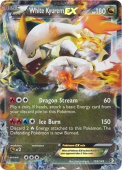 Pokemon Boundaries Crossed Single White Kyurem ex 103/149 - NEAR MINT (NM)