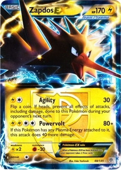 Pokemon Plasma Storm Single Zapdos ex 48/135 - NEAR MINT (NM)