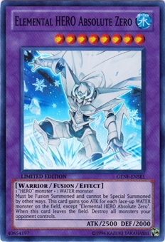 Yu-Gi-Oh Generation Force Single Elemental HERO Absolute Zero Super Rare - SLIGHT PLAY (SP)