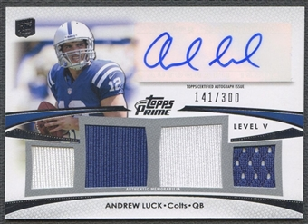 2012 Topps Prime #PVAL Andrew Luck Level 5 Jersey Auto #141/300