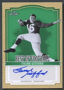 2012 Leaf Best of Football #BAFG1 Frank Gifford Auto