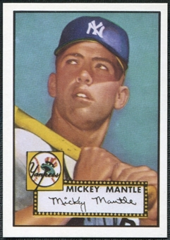 1952 Topps Mickey Mantle Rookie Reprint 1991 East Coast National Convention Exclusive