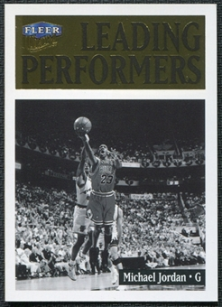 1998/99 Fleer Ultra Leading Performers #4 Michael Jordan