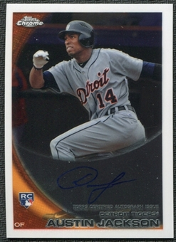 2010 Topps Chrome Rookie Autographs #177 Austin Jackson RC