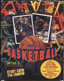 1994/95 Topps Series 1 Basketball Rack Box