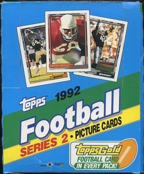 1992 Topps Series 2 Football Rack Box