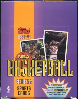 1993/94 Topps Series 2 Basketball Rack Box
