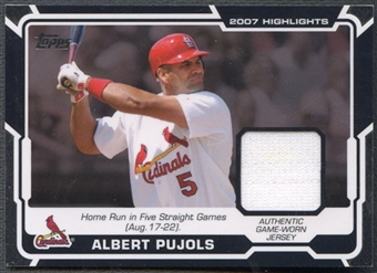 2008 Topps #AP Albert Pujols 2007 Highlights Jersey