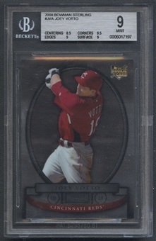 2008 Bowman Sterling #JVa Joey Votto Rookie BGS 9