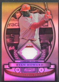 2008 Bowman Sterling #RH Ryan Howard Refractor Jersey #182/199