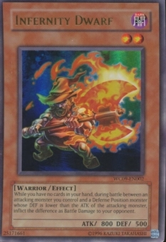 Yu-Gi-Oh Promo Single Infernity Dwarf Ultra Rare WC09