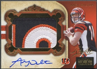 2011 Playoff National Treasures #326 Andy Dalton Gold Rookie Patch Auto #25/49