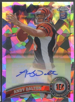 2011 Topps Chrome #51 Andy Dalton Rookie Crystal Atomic Refractor Auto #29/50