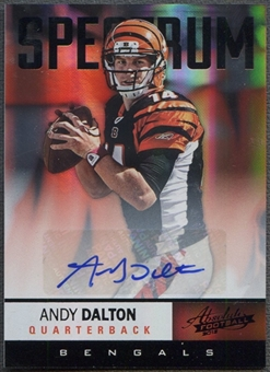 2012 Absolute #8 Andy Dalton Spectrum Black Auto #01/10