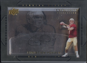 2011 Exquisite Collection #DCP Christian Ponder Dimension Auto